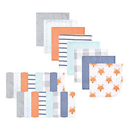 Hudson Baby® 24-Pack Fox Rayon from Bamboo Washcloths in Orange
