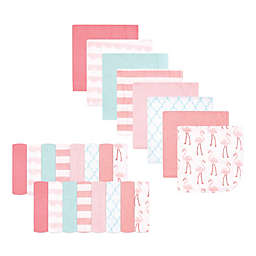 Hudson Baby® 24-Pack Coral Flamingo Rayon from Bamboo Washcloths in Pink