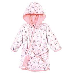 Hudson Baby® Size 0-9M Cotton Rich Bathrobe in Pink/Grey