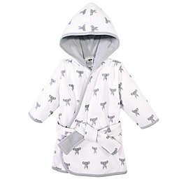 Hudson Baby® Size 0-9M Elephant Cotton Rich Bathrobe in Grey