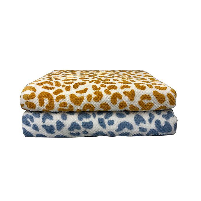 Alternate image 1 for Wild Sage™ Lana Leopard Towel Collection