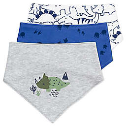 Mac & Moon 3-Pack Dinosuar Organic Cotton Bandana Bibs