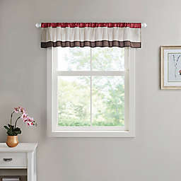Serene Floral Window Valance in Red