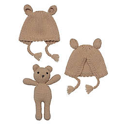 So' Dorable Crochet Bonnet and Bear Set
