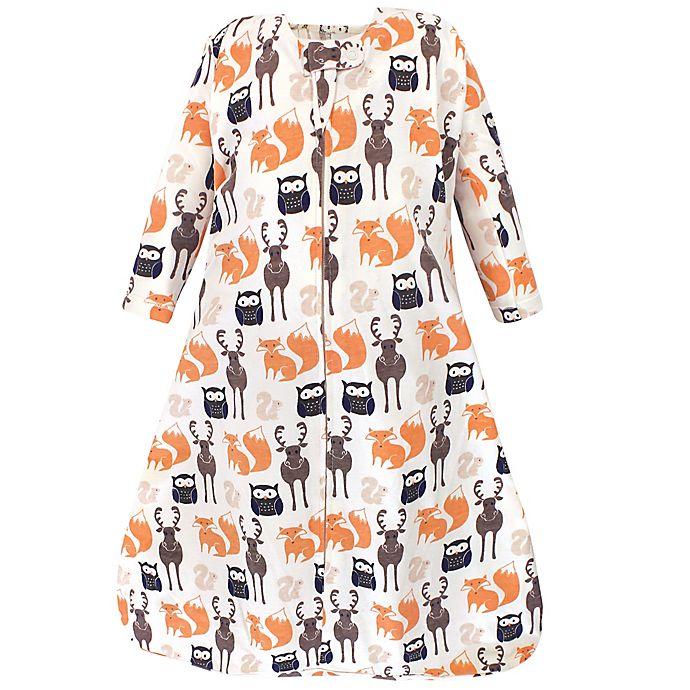 Alternate image 1 for Hudson Baby® Forest Long Sleeve Wearable Blanket in Orange