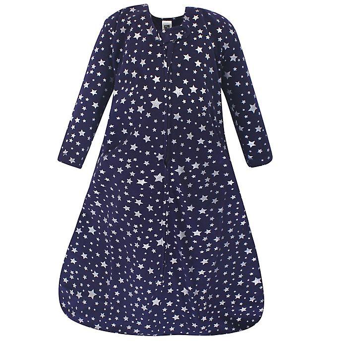 Alternate image 1 for Hudson Baby® Stars Long Sleeve Wearable Blanket in Navy