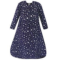 Hudson Baby® Size 0-6M Stars Long Sleeve Wearable Blanket in Navy