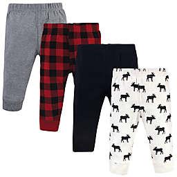 Hudson Baby® 4-Pack Moose Pants in Red