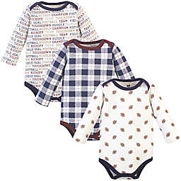 Hudson Baby Quilted LS Bodysuits Football 6-9M