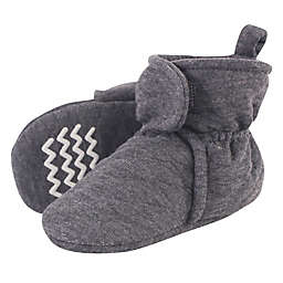 Hudson Baby® Size 6-12M Quilted Booties in Charcoal