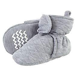 Hudson Baby® Size 6-12M Quilted Booties in Heather Grey