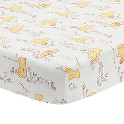 Lambs & Ivy® Storytime Pooh Cotton Fitted Crib Sheet in White
