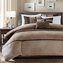 Madison Park Palisades 7-Piece Reversible King Comforter Set in Brown