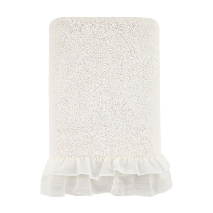 Alternate image 1 for Bee & Willow™ Cottage Ruffle Bath Towel in Coconut milk