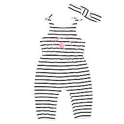 Mini Heroes™ 2-Piece Dream Always Striped Romper Set with Headband