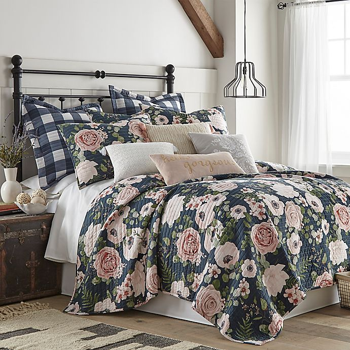 Alternate image 1 for Levtex Home Fiori 3-Piece Reversible King Quilt Set in Pink/Cream