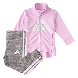 adidas® 2-Piece Peplum Jacket & Melange Tight Set