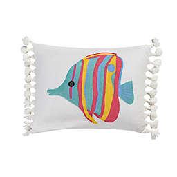 Levtex Home Playa Vista Crewel Angelfish Throw Pillow