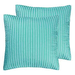 Levtex Home Playa Vista European Pillow Sham in Green (Set of 2)