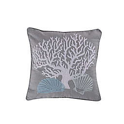 Levtex Home Cape Coral Square Throw Pillow in Grey