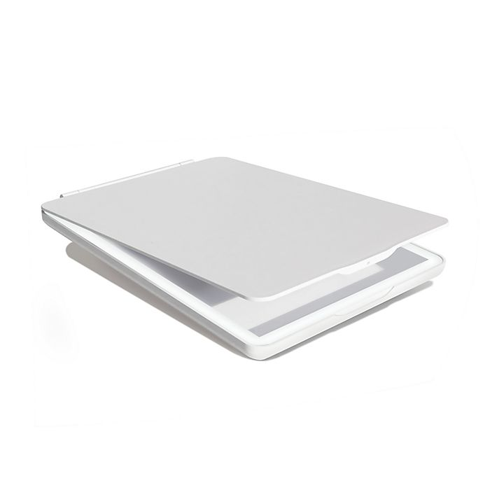 Alternate image 1 for Vanity Planet® Tri-Light 1X Halo Lighted Large Makeup Mirror in White