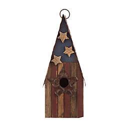 Glitzhome® Rustic USA Wooden Birdhouse