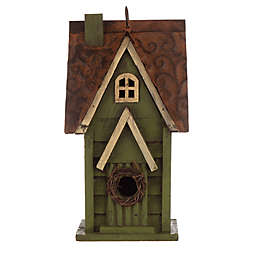 Glitzhome® Distressed Wood Multicolor Birdhouse
