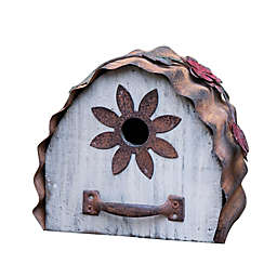 Glitzhome® Distressed Wooden Birdhouse