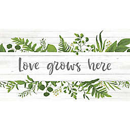 "Bee & Willow™ Home Love Grows Here 20"" x 36"" Comfort Kitchen Mat in Natural"