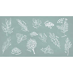 """Bee & Willow™ Home Herb Glossary 20"""" x 36"""" Comfort Kitchen Mat in Natural"""