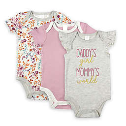 Modern Baby® Size 24M 3-Pack Daddy's Girl Mommy's World Bodysuits in Mauve