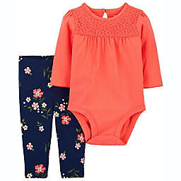 carter's® 2-Piece Lace Bodysuit and Pant Set in Pink