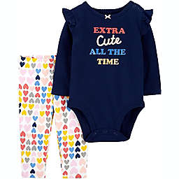 carter's® 2-Piece Extra Cute Bodysuit and Pant Set in Navy