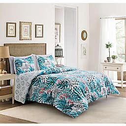 Coastal Life Abstract Tropic 3-Piece Reversible Comforter Set
