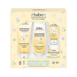 babo Botanicals® 4-Piece Newborn & Baby Oatmilk Calendula Bath Gift Set