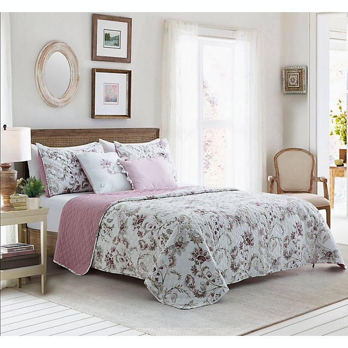 Alternate image 1 for Mandy 5-Piece Reversible Quilt Set in Pink Multi