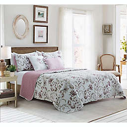 Mandy 5-Piece Reversible Full/Queen Quilt Set in Pink Multi