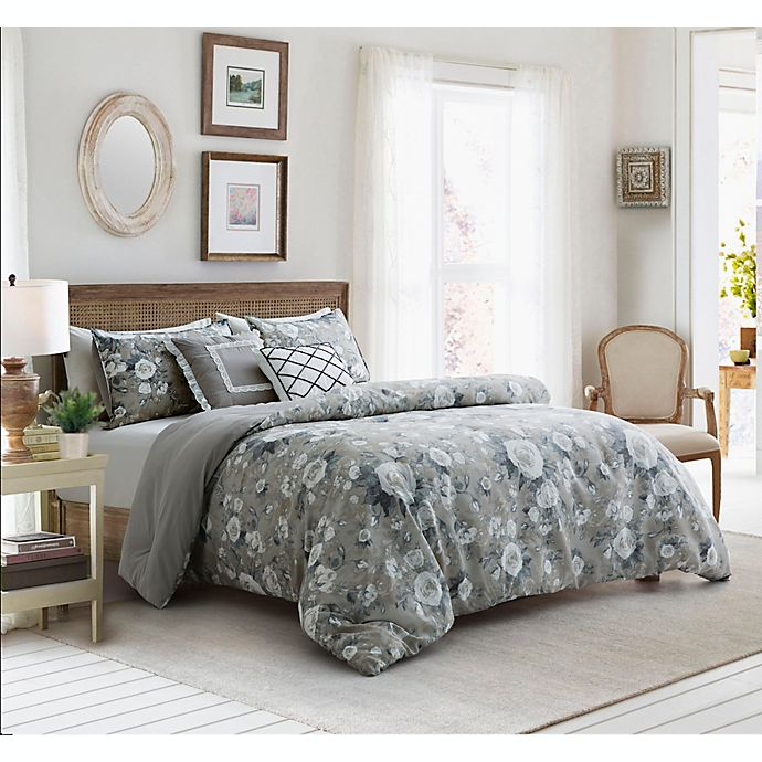 Alternate image 1 for Gwendolyn 5-Piece Reversible Comforter Set in Taupe