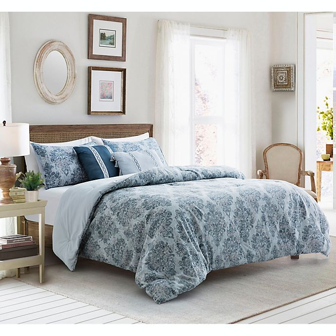 Alternate image 1 for Ingrid 5-Piece Reversible Comforter Set in Grey Multi