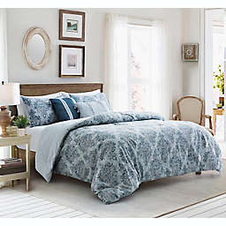 Ingrid 5-Piece Reversible King Comforter Set in Grey Multi