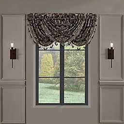 J. Queen New York™ Windam Window Waterfall Valance in Black