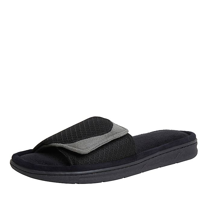 Alternate image 1 for Cozy Mountain™ Men's Sport Mesh Adjustable Slide Slippers