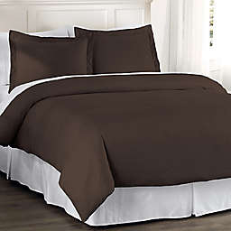 Hotel Grand Reversible Twin Duvet Cover Set in Chocolate
