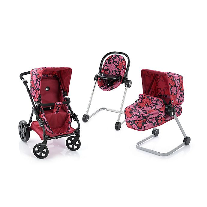 Alternate image 1 for iCoo Grow with Me Doll Playset with Stroller/Bassinet and High Chair