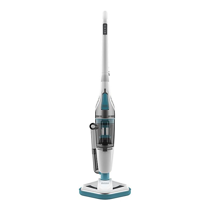 Alternate image 1 for Black & Decker™ Steam Mop & Dry Vacuum in White/Aqua