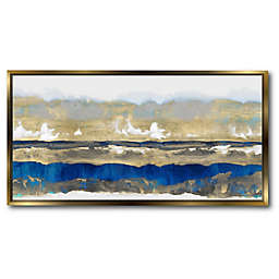 Courtside Market® Strata Framed Canvas Wall Art in Blue/Gold