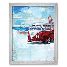 Courtside Market® Red Camper Van 30-Inch x 40-Inch Framed Canvas Wall Art