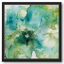 Courtside Market® Green Flower 30-Inch Square Framed Canvas Wall Art