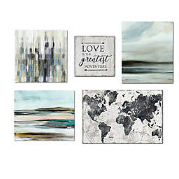 Courtside Market® Gray Hues Contemporary 36-Inch x 48-Inch Canvas Wall Art (Set of 5)