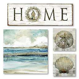 Courtside Market® Coastal Tranquility 32-Inch x 46-Inch Canvas Wall Art (Set of 4)